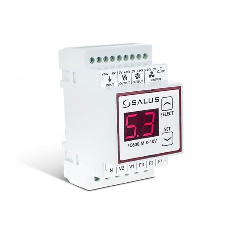 Модуль 0 ... 10V для терморегулятора фанкойлу FC600 SALUS FC600-M0-10V