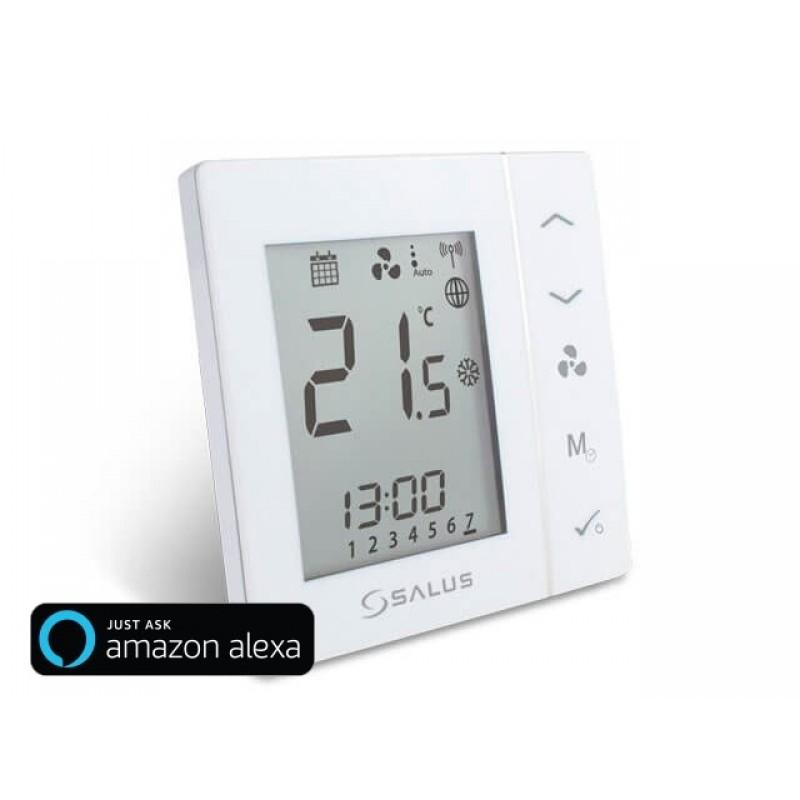 Терморегулятор для фанкойлу, вбудованного монтажу, можливіть використання в системі iT600 Smart Home SALUS FC600